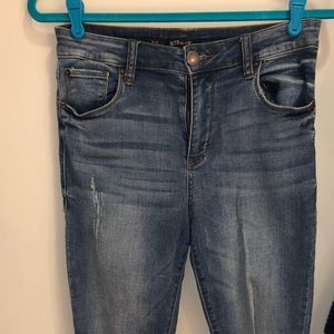 STS Blue High Rose Ankle Jeans